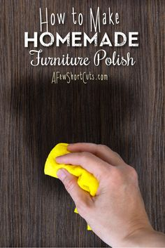 Check out how to make Homemade Furniture polish! Non-toxic and frugal!