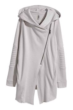 Kapüşonlu Sweatshirt Hırka - Açık gri - Ladies | H&M TR