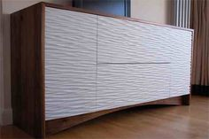 textured chest of drawers