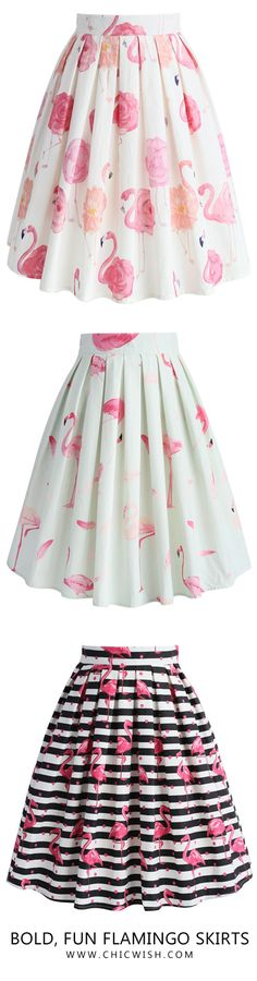 Blod, Fun Flamingo Skirts. Find more at Chicwish.com