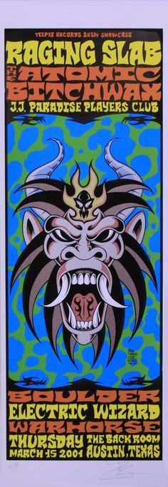 Alan Forbes - 2001 - Atomic Bitchwax Concert Poster