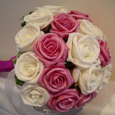 Modern roses bridal bouquet