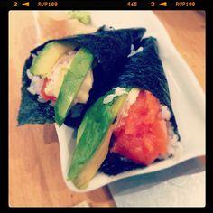 Salmon & Avocado Hand Roll... #japanese #sushi #yummy #dinner