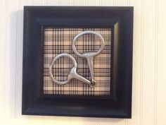 FABULOUS FRAMED SNAFFLE HORSE BIT BAKER PLAID MATT EQUESTRIAN DECOR FOX HUNTING in Home & Garden, Home Décor, Other Home Décor | eBay