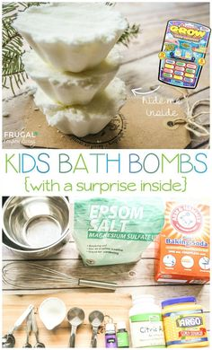 The best DIY projects & DIY ideas and tutorials: sewing, paper craft, DIY. Best Diy Crafts Ideas For Your Home Essential Oils Homemade Kids Bath Bombs Recipe. You choose the scent. Hide a surprise animal Homemade Beauty, Homemade Gifts, Diy Gifts, Bath Boms, Diy Masque, Homemade Essential Oils, Essential Oils For Kids, Bath Bomb Molds, Bath Bomb Recipes