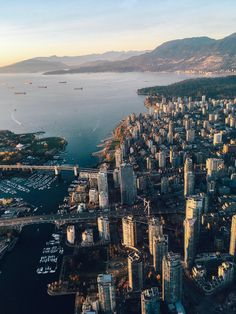 Flying over Vancouver! Vancouver Travel, Vancouver British Columbia, Downtown Vancouver, Vancouver Photos, Vancouver Skyline, Vancouver Island, City Aesthetic, Travel Aesthetic, Places To Travel