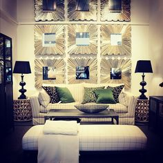 We love mirror clusters to add huge wow factor to any room setting. This room now available for viewing at our Brisbane Showroom. www.boydblue.com