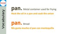Don't be tricked by English-#Spanish false cognates: pan / pan