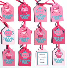 12 Thank you Favor or Loot Bag Tags by ScrapsToRemember on Etsy, $24.00
