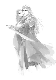 Thranduil and Legolas - i'm not sorry about my elf problem Mirkwood Elves, Lotr Elves, Hobbit Art, O Hobbit, Legolas Et Thranduil, Elf King, Elvish, Jrr Tolkien, Lord Of The Rings