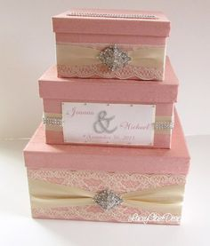 Wedding Money Box Card Box Money Card Box by LaceyClaireDesigns, $149.00