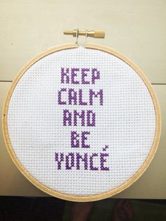 Ever wish you woke up like Beyoncé ... flawless? Let this cross stitch remind you to be like Queen B!