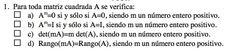 Ejercicio 1 del Examen de Matemática 2 (ADE, ULL). 26 Noviembre 2011. Tema: Matrices