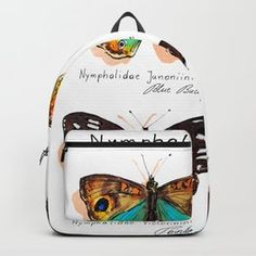 Nymphalidae butterflies Carry-All Pouch by barbarabaumannillustration | Society6