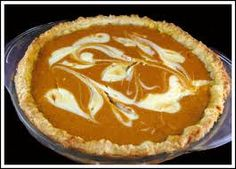 Marbled Cream Cheese Pumpkin Pie is exactly what it sounds like -- a pumpkin pie with a cheesecake marbled through it. Cheese Pumpkin, Pumpkin Cream Cheeses, Just Desserts, Delicious Desserts, Yummy Food, Cream Cheese Pie, Pumpkin Pie Cheesecake, Cookie Pie, Cookie Dough