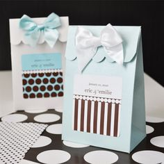 Sweet Shoppe Candy Boxes - Dots & Stripes. Priced as low as $10.50/Set of 12.