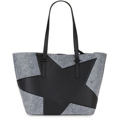 KENDALL + KYLIE Women's Star Tote ($90) ❤ liked on Polyvore featuring bags, handbags, tote bags, grey, gray tote, gray handbags, star purse, gray purse and grey tote bag