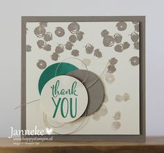 Stampin' Up! - Thank You - Happy Stampin' Cool Cards, Diy Cards, Stampin Up Anleitung, Handmade Thank You Cards, Girl Birthday Cards, Thanks Card, Stampin Up Catalog, Get Well Cards, Creative Cards