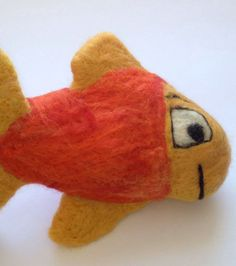 Needle felted wool toy fish toy for kids by CarleysCornerStudio, $15.00