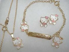 gold hello kitty jewelry GOLD HELLO KITTY EARRINGS Accessories