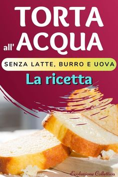 #tortaallacqua #dolci #vegan #ricette #dieta #evoluzionecollettiva Vegan Recipes, Cooking Recipes, Sweets Cake, Cheat Meal, Biscotti, Cornbread, Nutella, Gluten Free, Fruit