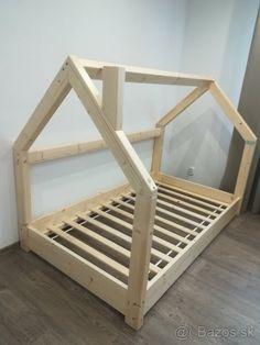 Children's bed made of solid wood – Košice - Diy Möbel House Beds For Kids, Toddler House Bed, Diy Toddler Bed, Kid Beds, Baby Bedroom, Kids Bedroom, Todler Room, Diy Bed Frame, Kids Room Design