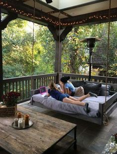 Porch swing bed ❤️