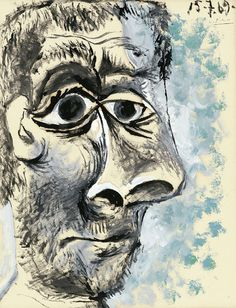 [ P ] Pablo Picasso - Tête d'Homme (1969) by Cea., via Flickr
