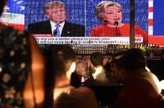 Caption: A party in West Hollywood, Calif., for the first presidential debate between Hillary Clinton and Donald J. Trump.
