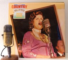 "Patsy Cline Vinyl Record Albums LP 1950s Mid-Century Country Western Music 1960s ""The Country Hall Of Fame"" (1979 Mca w/""Crazy"")"