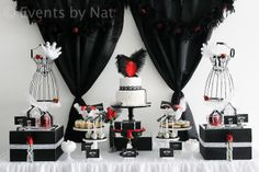 Red Black And White Candy | Events By Nat: Roaring 1920's Black, White and Red Dessert Table