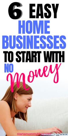 6 easy home business you can start with no money. If you have been looking for ways to make money online from home, this post will help you choose from 6 free options that you can start using as soon as today. Need Money, Make Money Fast, Make Money From Home, Money Saving Challenge, Saving Money, Work From Home Jobs, Earn Money Online, Starting A Business, Money Tips