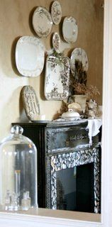 Lovely mantel and dish display