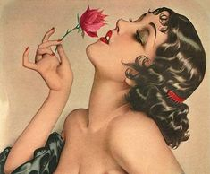 Alberto Vargas - portrait of Olive Thomas (1894-1920), silent movie actress and sister-in-law of Mary Pickford.