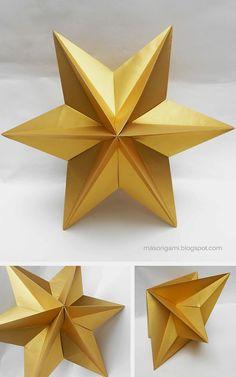 origami - Dominanta star plegada en papel para Navidad: