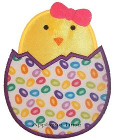 Hatching Easter Chick Applique Design from Applique Time