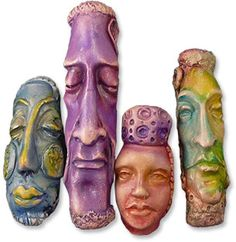 About face in polymer | Polymer Clay Daily