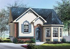 House Plan 49563, Order Code PT101 | Victorian Plan with 1028 Sq. Ft., 2 Bedrooms, 1 Bathrooms