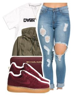 """3/10/16"" by xtaymaxlovesxmisfitx ❤ liked on Polyvore featuring H&M, MICHAEL Michael Kors, NIKE and Gucci"