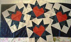 Heart star blocks