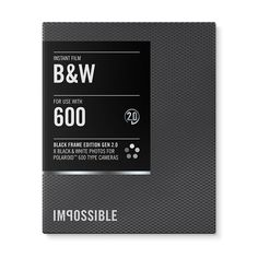 Impossible Project s Black Frame Black and White (B amp W) 2.0 Instant Film  for 858fdc11e27d