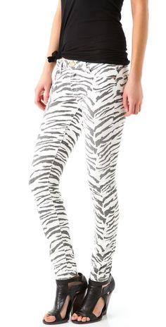 Current/Elliott The Ankle Skinny Jeans | SHOPBOP  Never enough pattern jeans! Zebra!!!