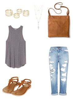 """""""Untitled #103"""" by kerrie-gregory on Polyvore featuring Genetic Denim, Topshop, Merona and House of Harlow 1960"""