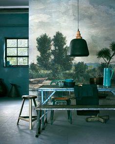 Groene eetkamer | Green dining room | Photographer Jeroen van der Spek | Styling Cleo Scheulderman | vtwonen November 2015