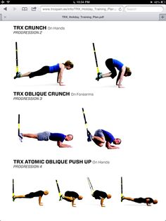 TRX abs- oblique crunch, oblique crunch roll push up Holy hell- the atomically look brutal!