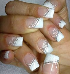 Eine Liste der nette Wedding Nail-Designs - - Best Picture For wedding nails for bride art designs For Your Taste You are looking for something, and it is going t Wedding Nail Colors, Wedding Nail Polish, Bridal Nail Art, Wedding Nails Design, Nail Wedding, Wedding Art, Wedding Designs, Nail Art Designs 2016, White Nail Designs