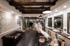 Daniel Malik | Design Portfolio Interior Design Of Benicky & Sons traditional Barber shop in Sydney, Australia