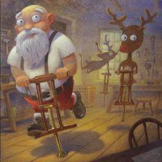 Pinzellades al món: Il·lustracions de Pare Noel en la intimitat / Ilustraciones de Papá Noel en la intimidad / Illustration of Santa Claus in privacy