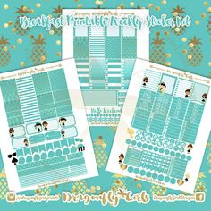 New!! Breakfast Stickers | 3 Page Weekly Kit | pdf 3 jpeg Erin Condren Life Planner Filofax MAMBI Color Crush Websters Audrey Hepburn