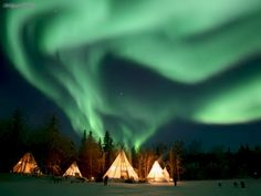 Would love to take a trip up north, rent a teepee, and see the Northern Lights. And listen to wolves as background noise.